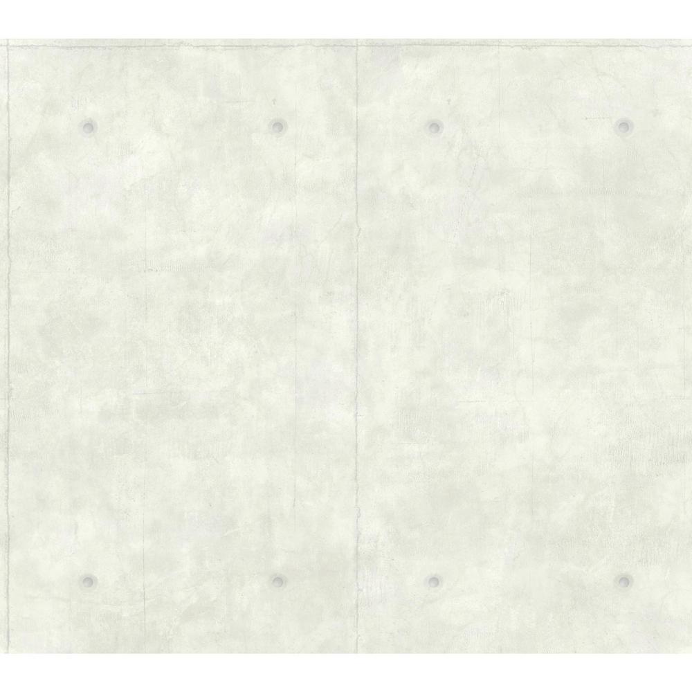 60.75 sq. ft. Concrete Removable Wallpaper
