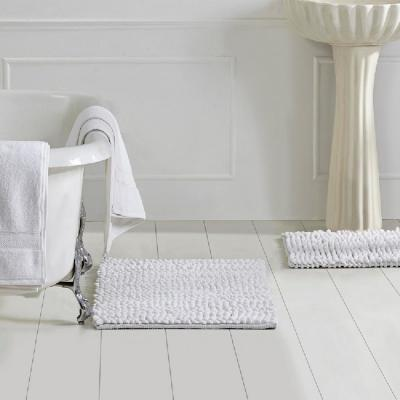 Microloop White 17 in. x 24 in. and 21 in. x 34 in. and 27 in. x 54 in. Bath Rug (3-Piece)