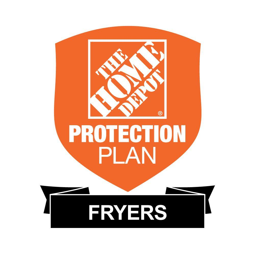 The Home Depot 2-Year Protection Plan for Fryers ($25-$49.99) Get peace of mind for all of your home-improvement products with The Home Depot Protection Plan. If your product experiences a covered failure, you will be reimbursed with a Home Depot eGift Card for the full purchase price of your product, plus tax. After you purchase your Home Depot Protection Plan, a separate confirmation email will be sent to you. This confirmation will include the terms & conditions and provide instructions on how to file a claim should your product experience a covered failure.