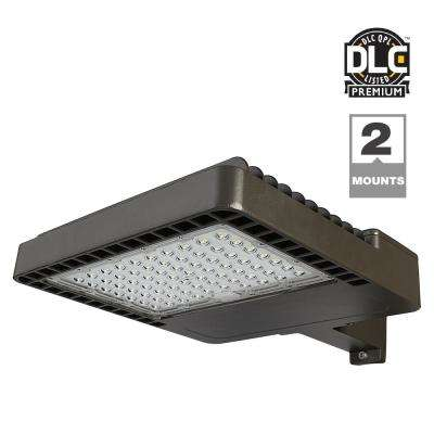 Dark Bronze Outdoor Integrated LED Commercial Area Light