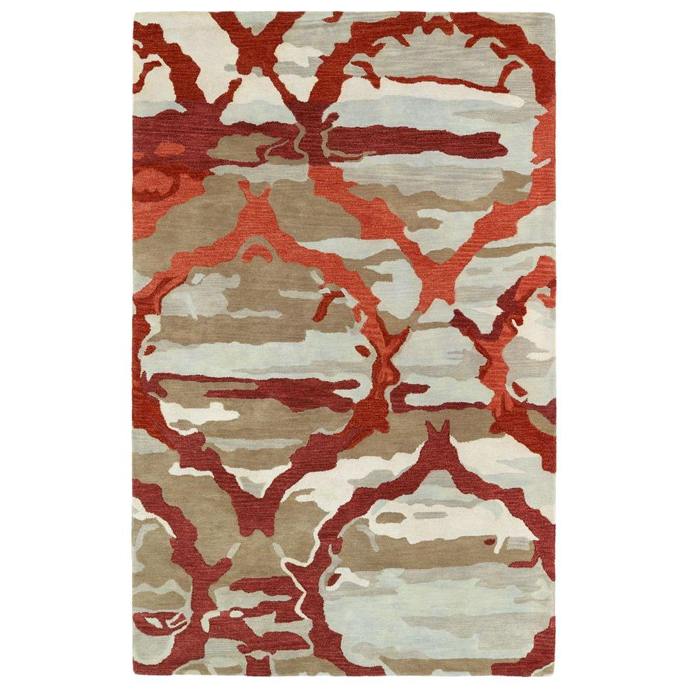 Brushstrokes Red 5 ft. x 7 ft. 9 in. Area Rug