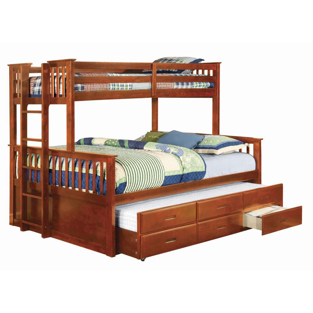 University Twin Xl & Queen Bunk Bed in Oak finish