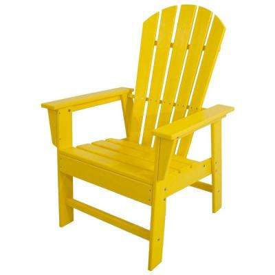 South Beach Lemon All Weather Plastic Outdoor Dining Chair