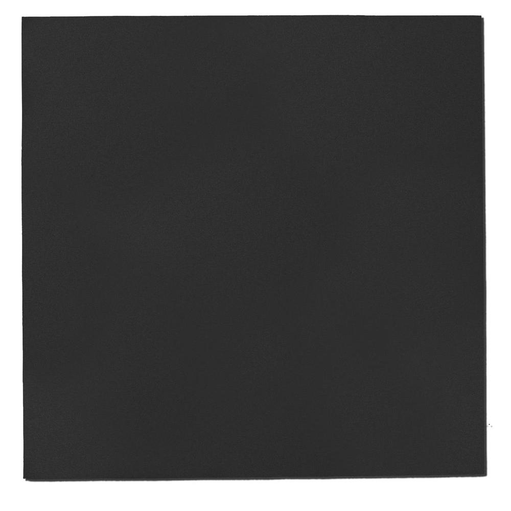 Black Fabric Square 24 in. x 24 in. Sound Absorbing Acoustic
