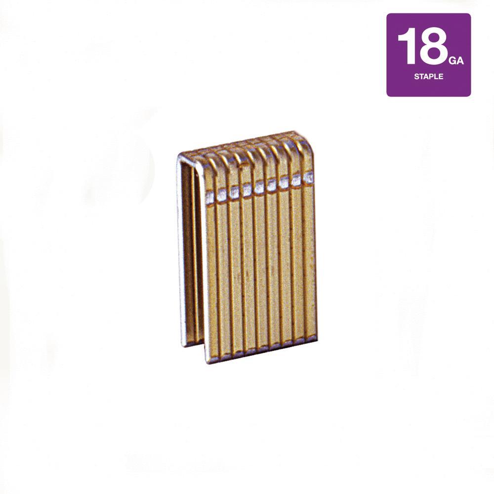 1 in. x 18-Gauge Galvanized Narrow Staples (5,000 per Pack)