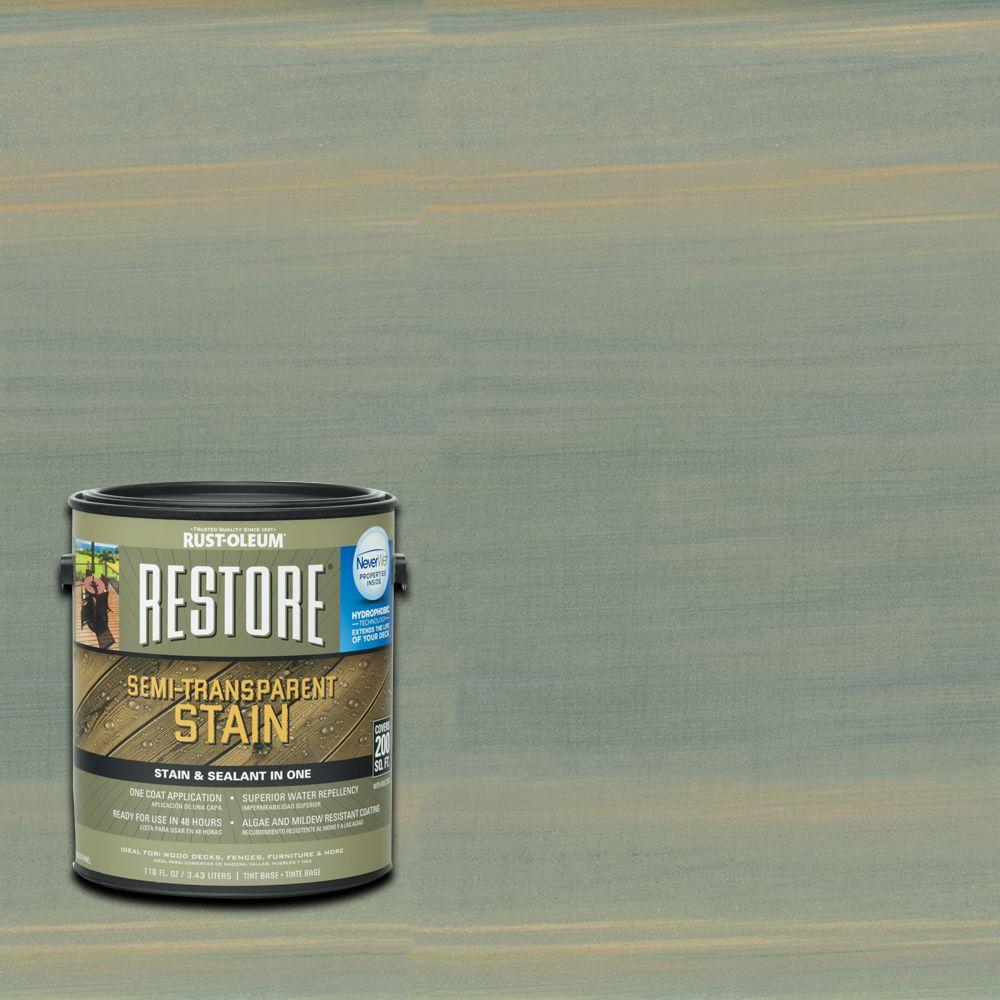 Rust-Oleum Restore 1 gal. Semi-Transparent Stain Fern with NeverWet