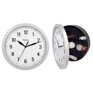 9.75 in. Silver Storage Wall Clock