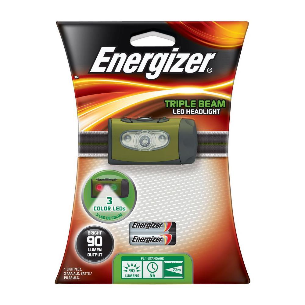 Energizer 3AAA / 90 Lumen Triple Beam Headlight-DISCONTINUED