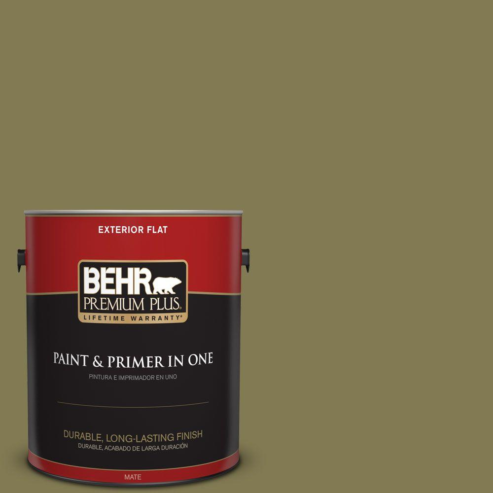 1 gal. #HDC-AC-16A Fern Grove Flat Exterior Paint