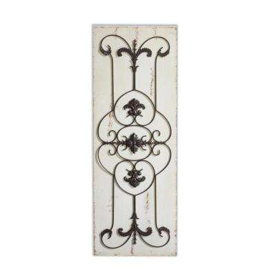 Gabrielle 44in Wood and Metal Wall Dcor Set of 2