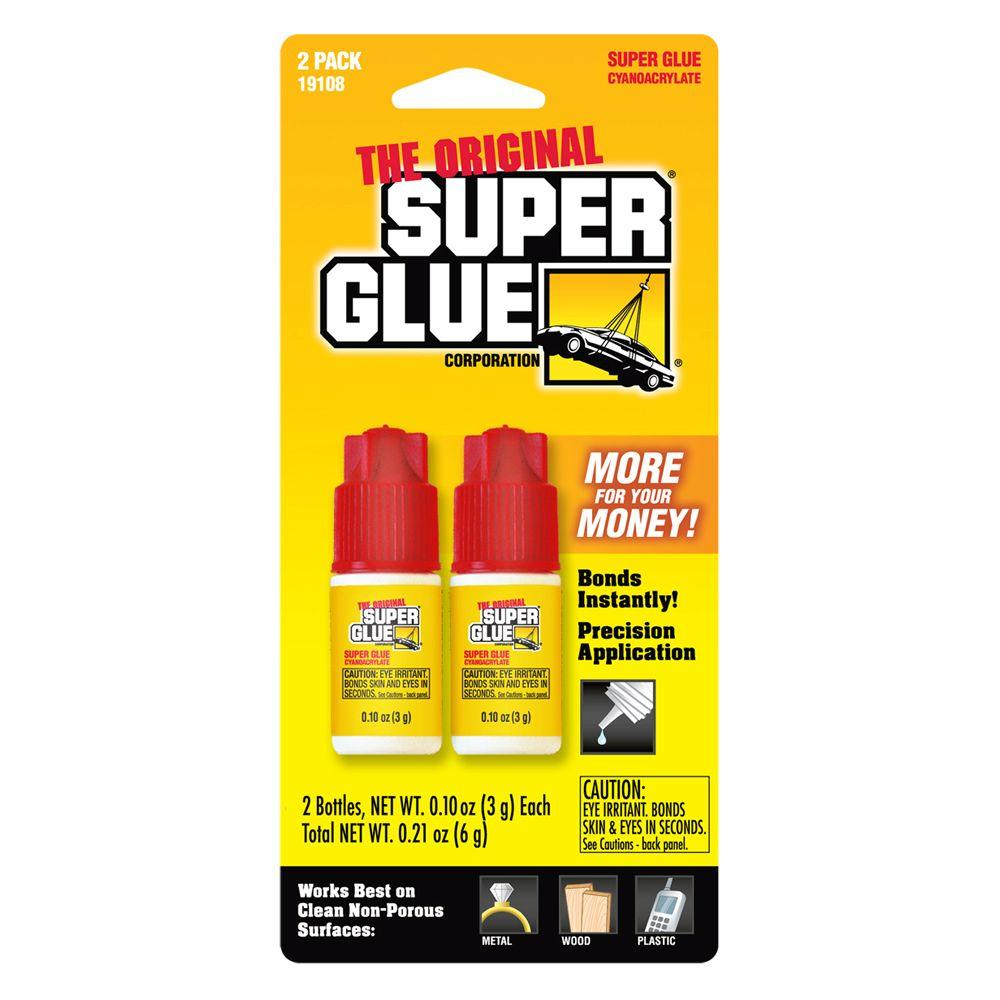 Super Glue 0.10 oz. Glue Bottle, (2) 0.10 oz. Bottles per card, (12-Pack)