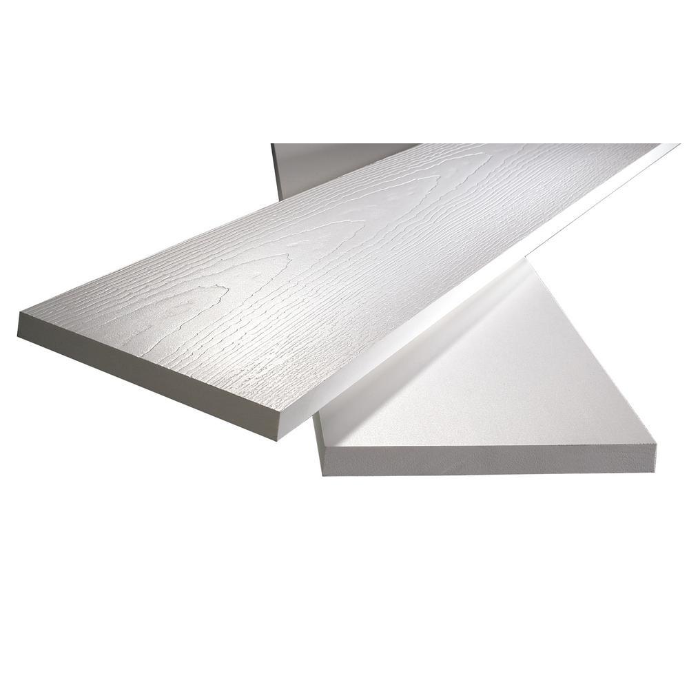 3/4 in. x 5-1/2 in. x 8 ft. White PVC Reversible Trim (6-Pack)
