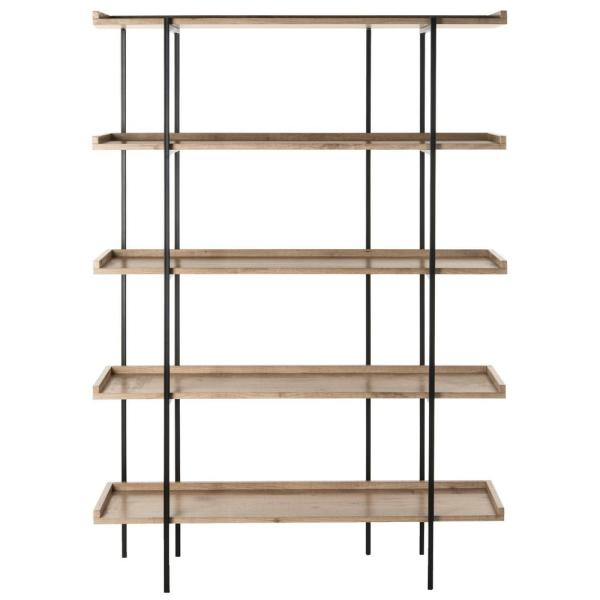 Cecilia Oak/Black Etagere
