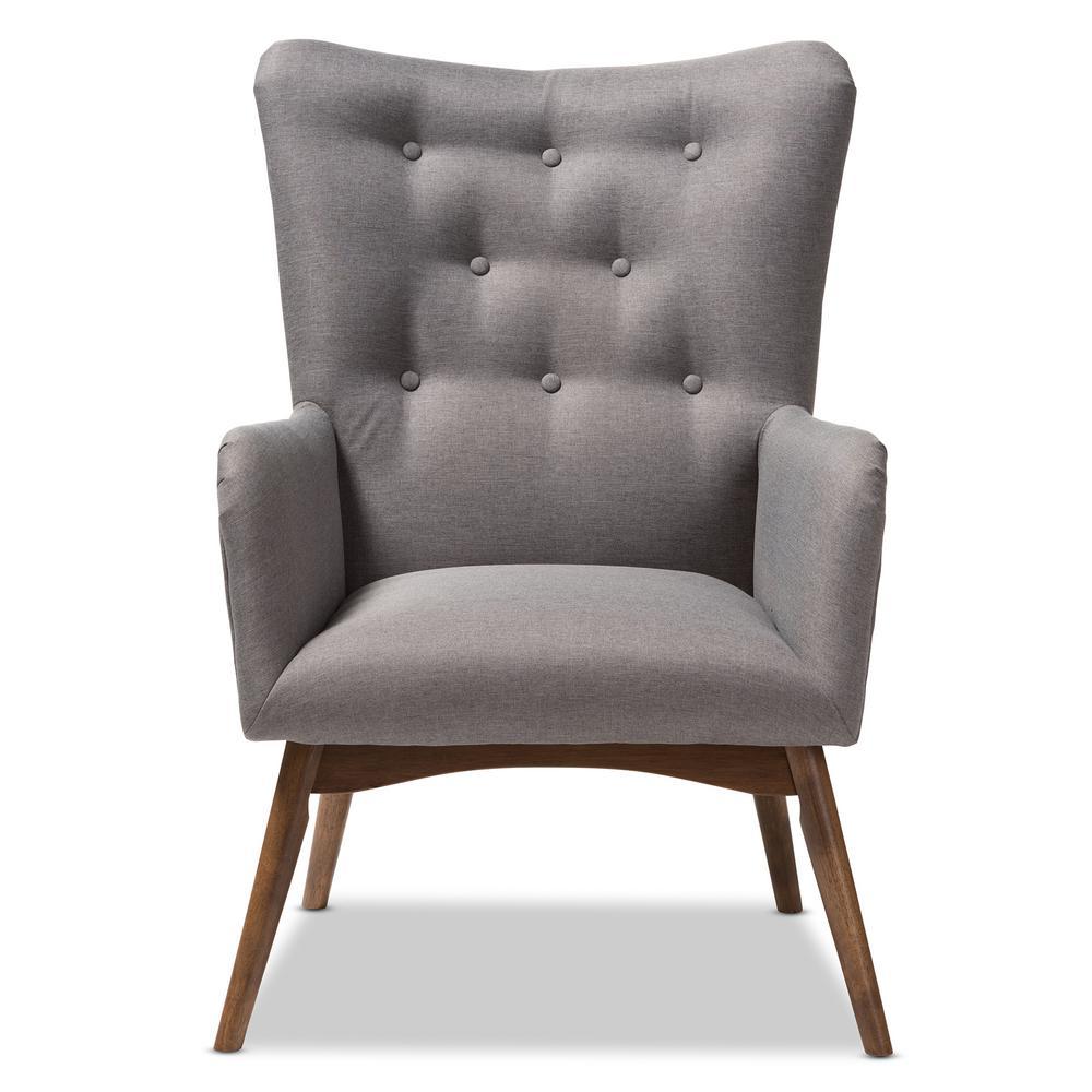 Waldmann Grey Fabric Upholstered Lounge Chair