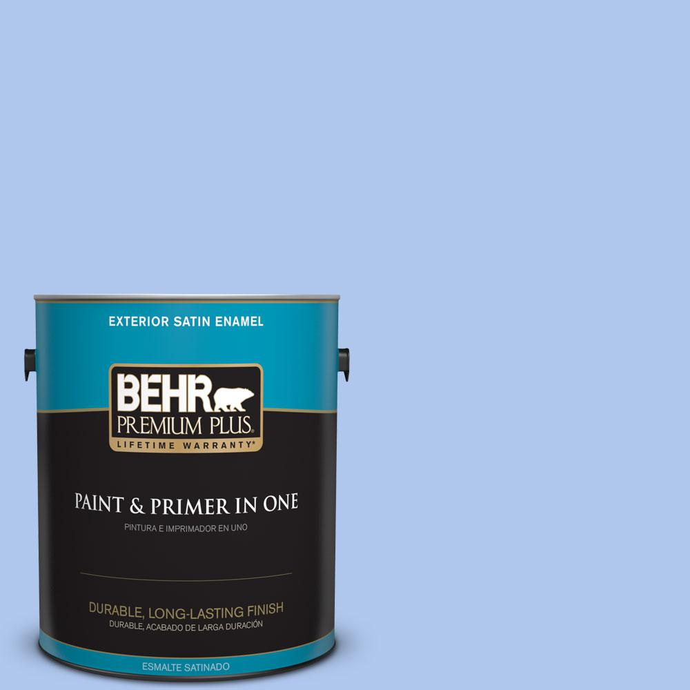 BEHR Premium Plus 1-gal. #P530-2 Promise Keeping Satin Enamel Exterior Paint