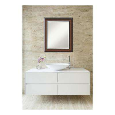 Cyprus Walnut Wood 21 in. W x 25 in. H Single Traditional Bathroom Vanity Mirror
