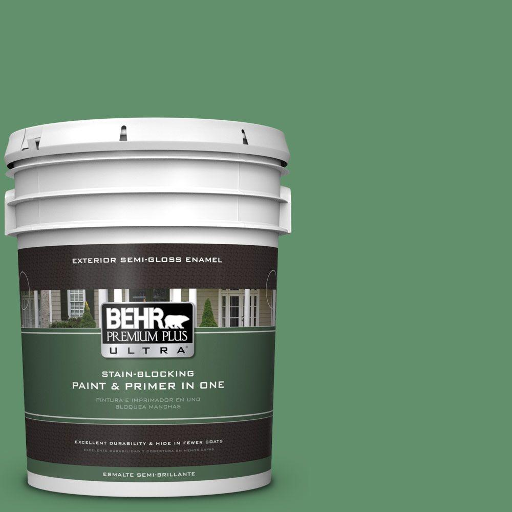 BEHR Premium Plus Ultra 5-gal. #460D-6 Manchester Semi-Gloss Enamel Exterior Paint
