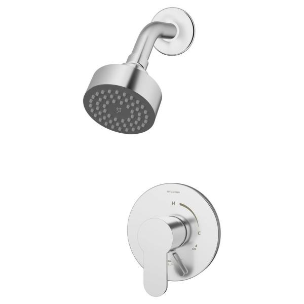 Identity Single Handle 1-Spray Shower Trim in Polished Chrome - 1.5 GPM (Valve not Included)