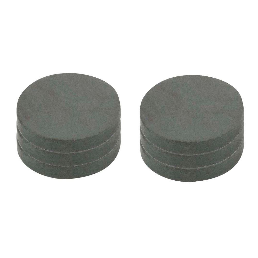 1 in. Dia Black Disc Magnet (6 per Pack)