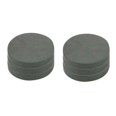 1 in. Dia Black Disc Magnet (6 per Pack)