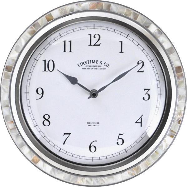 FirsTime & Co. Silver Sophia Mosaic Wall Clock