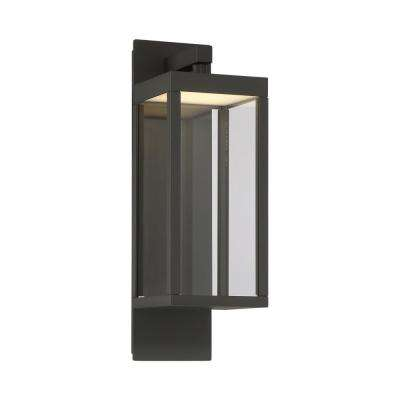 1-Light Graphite Grey Outdoor Integrated LED Wall Mount Sconce