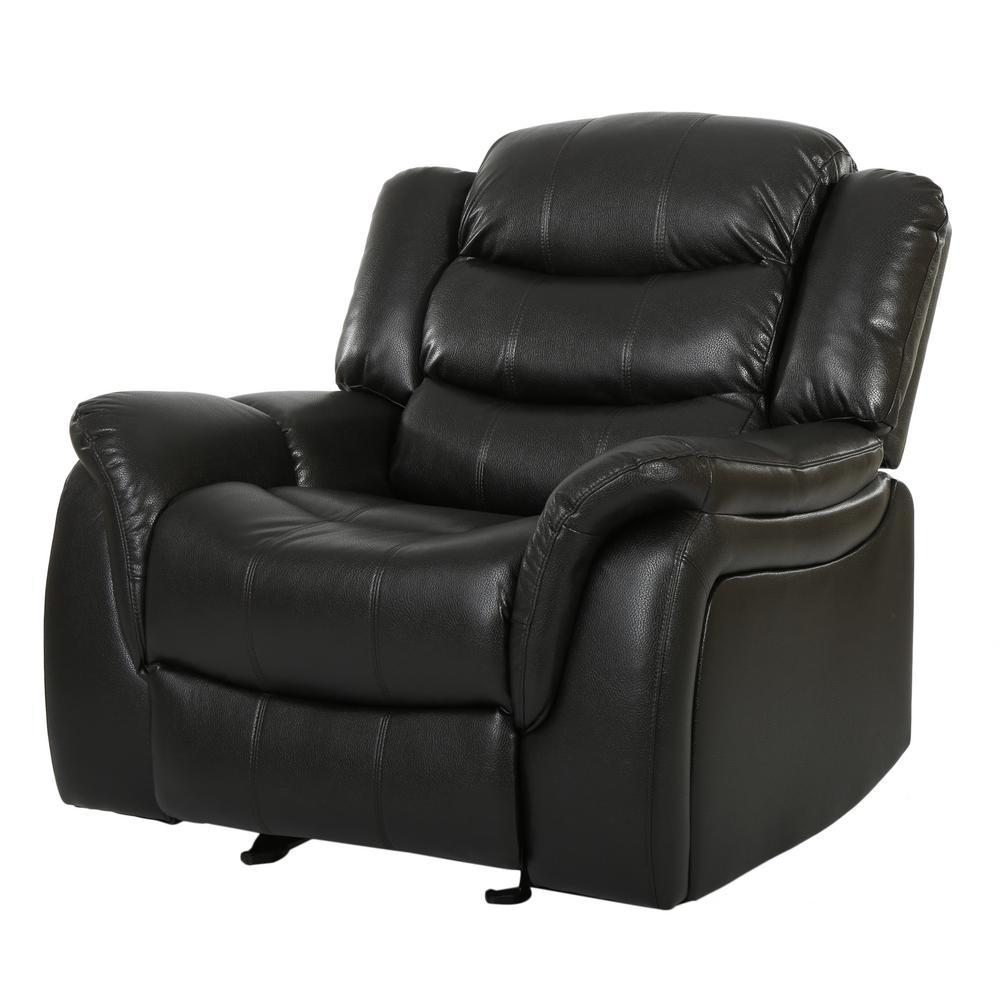 Hawthorne Black Leather Recliner