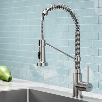 Bolden Single-Handle Pull-Down Sprayer Kitchen Faucet with Dual Function Sprayhead in Stainless Steel