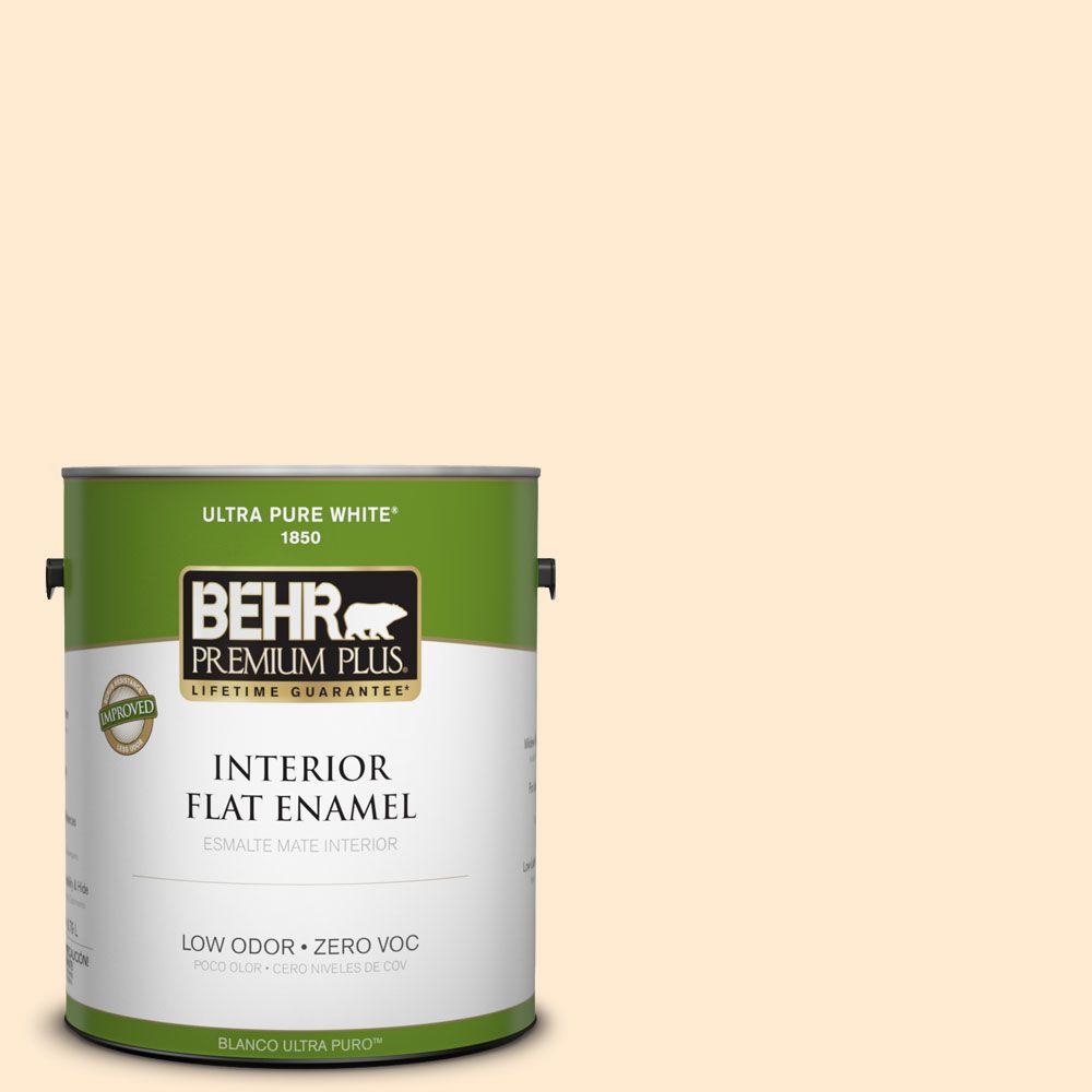 BEHR Premium Plus 1-gal. #290A-2 Country Lane Zero VOC Flat Enamel Interior Paint-DISCONTINUED