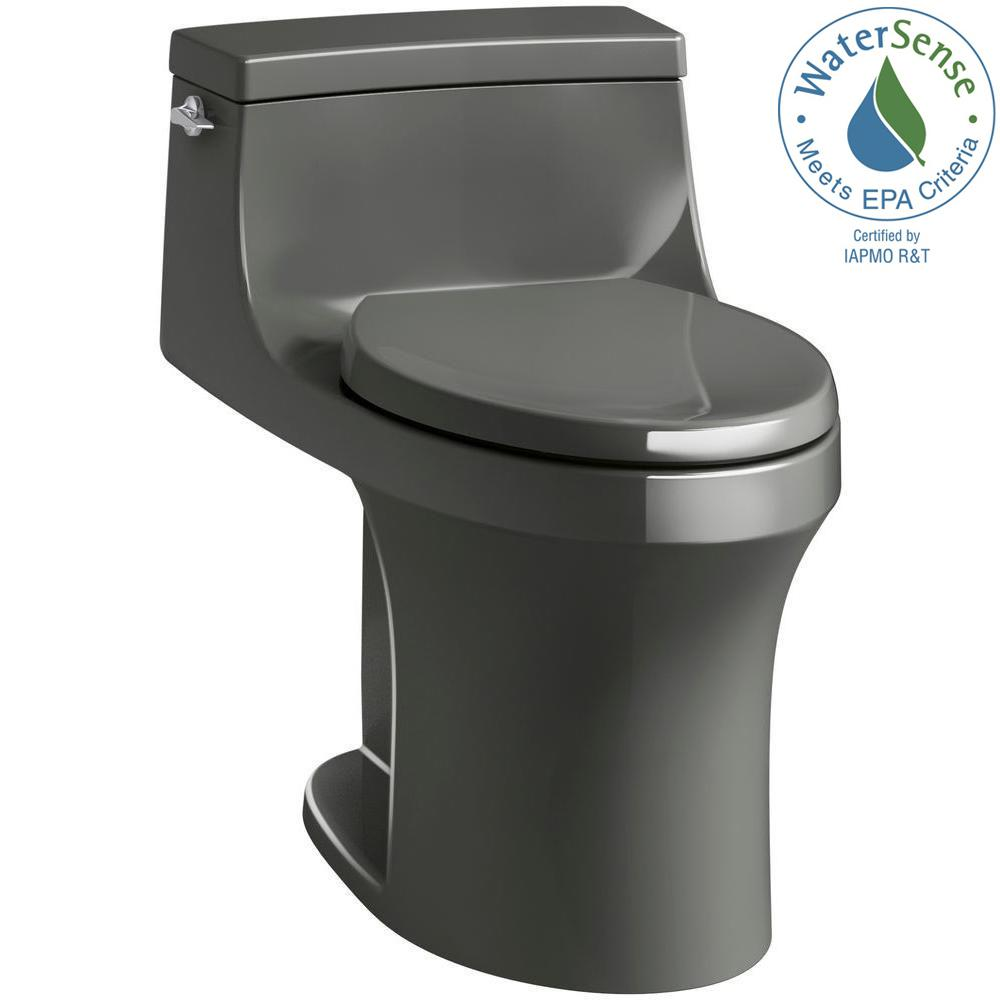 Kohler San Souci 1 Piece 28 Gpf Single Flush Elongated Toilet In Thunder Grey