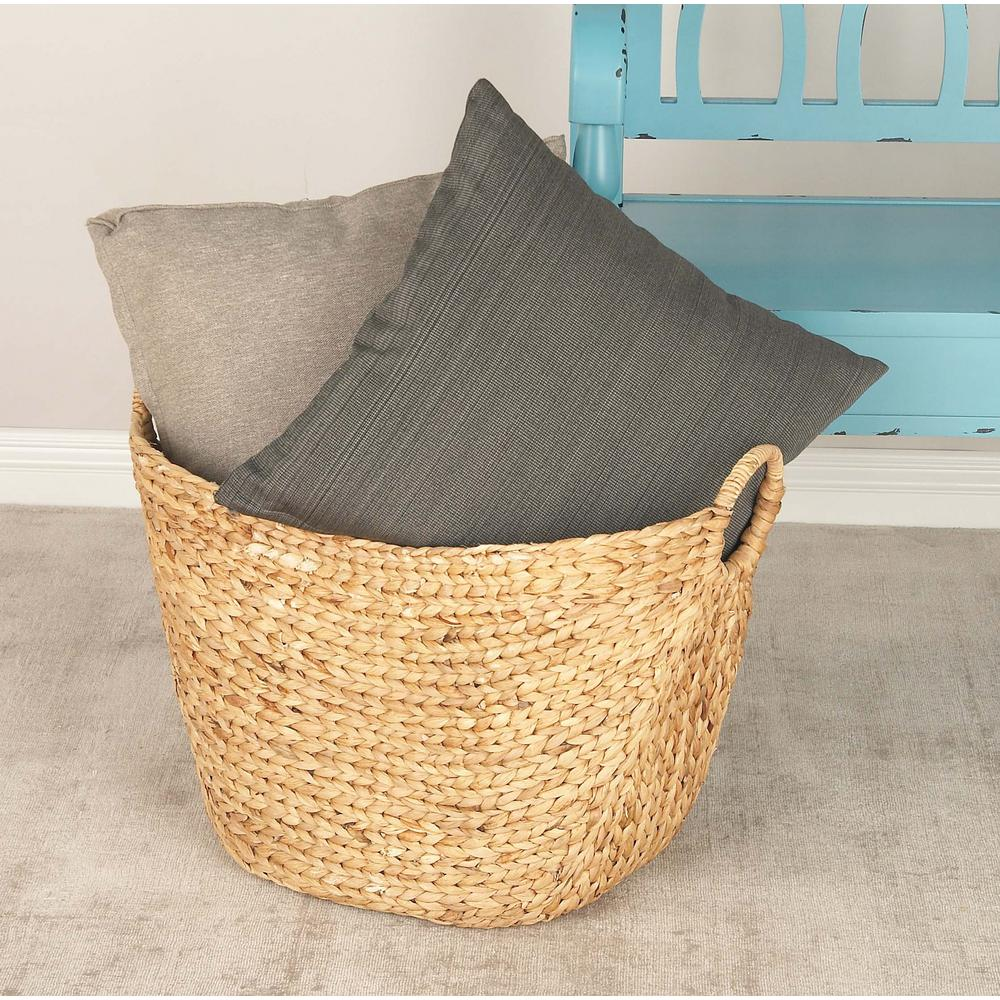 Litton Lane 21 in. x 17 in. Seagrass Storage Basket