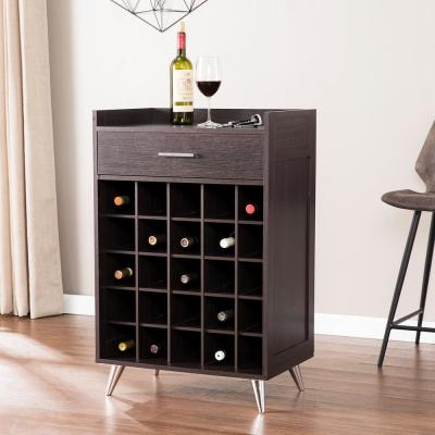 Martyna Ebony Wine Storage Cabinet Table