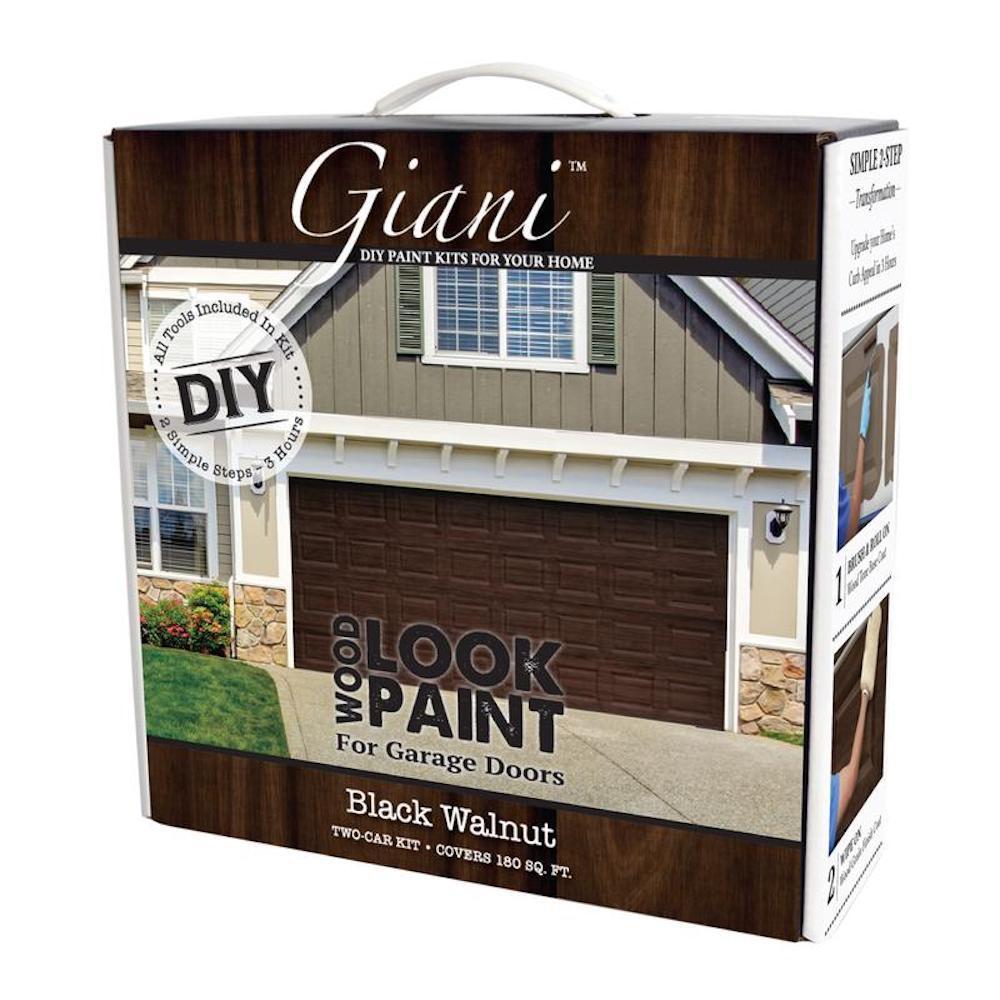 Giani Black Walnut 2 Car Garage Kit Fg Wl Wal 2 Kit The Home Depot