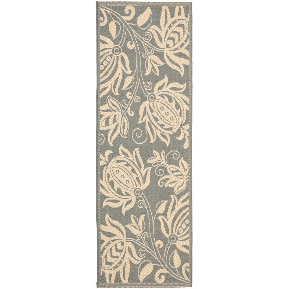 Courtyard Gray/Natural 2 ft. 3 in. x 6 ft. 7 in.