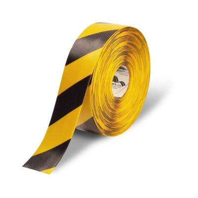 3 in. Yellow and Black Diagonal Heavy-Duty Floor Tape 100 ft. Roll