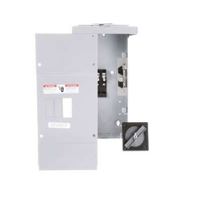 125 Amp 2-Space 4-Circuit Main Lug Outdoor Small Load Center