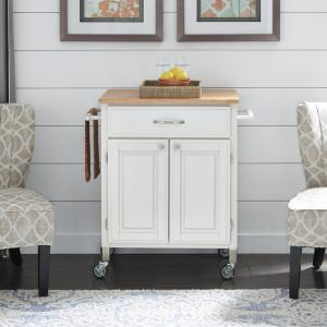 Dolly Madison White Kitchen Cart