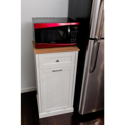 Transitional Pull Out Trash Cans Cabinet