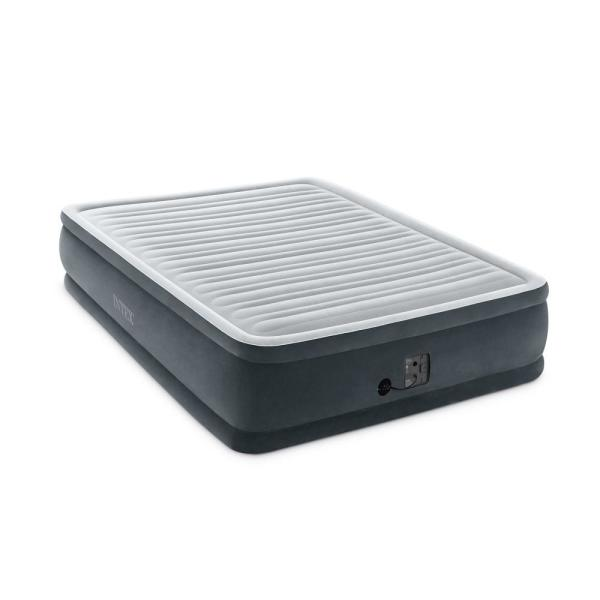 Dura Beam Plus Series Queen Elevated Mattress Airbed with Built-in Pump