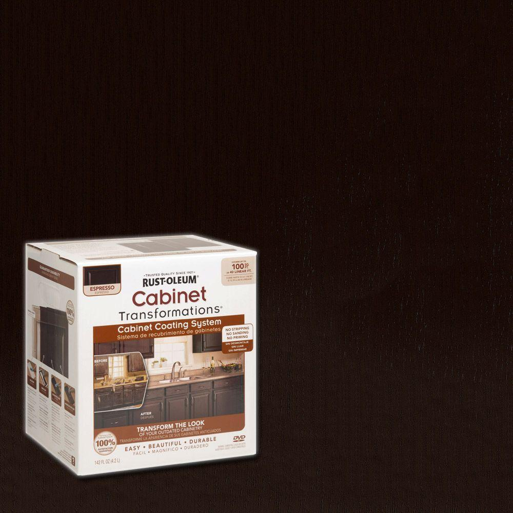 Rust Oleum Transformations 1 Qt Espresso Small Cabinet Kit 263231 The Home Depot