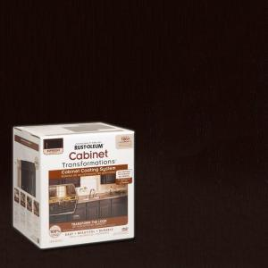rustoleum kitchen cabinet paint kit rust oleum transformations 1 qt espresso small cabinet 7850