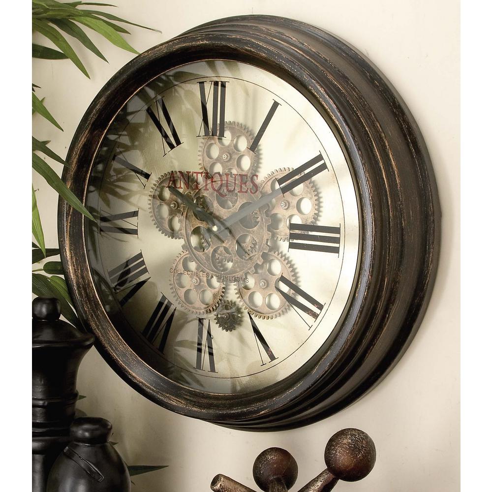 Litton Lane 18 In Vintage Gear Wall Clock 66974 The
