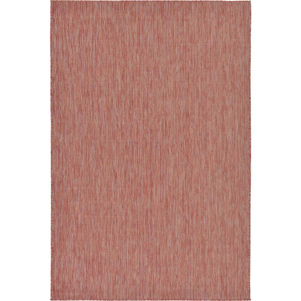 Outdoor Rust Red 6' x 9' Indoor/Outdoor Rug