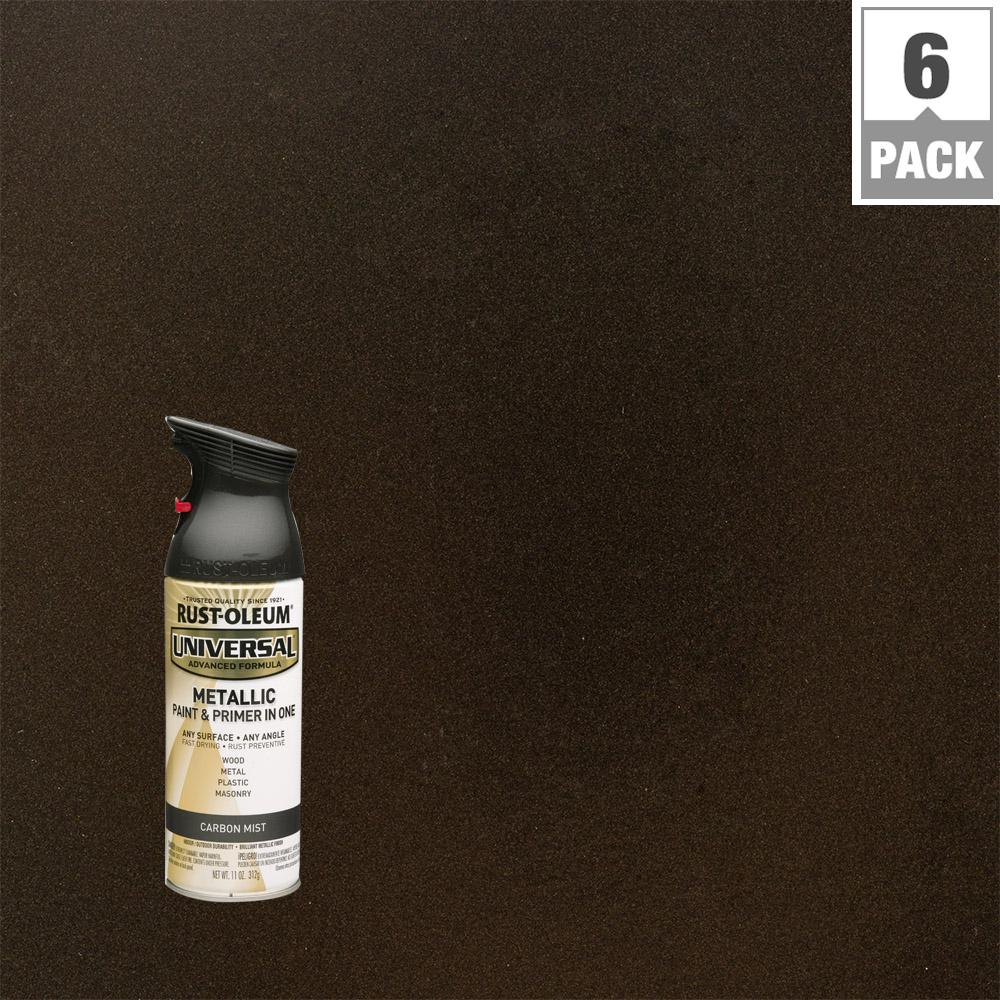 11 oz. All Surface Metallic Carbon Mist Spray Paint and Primer