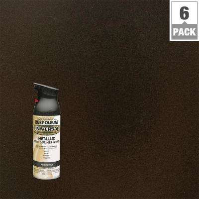 11 oz. All Surface Metallic Carbon Mist Spray Paint and primer in 1 (6-Pack)