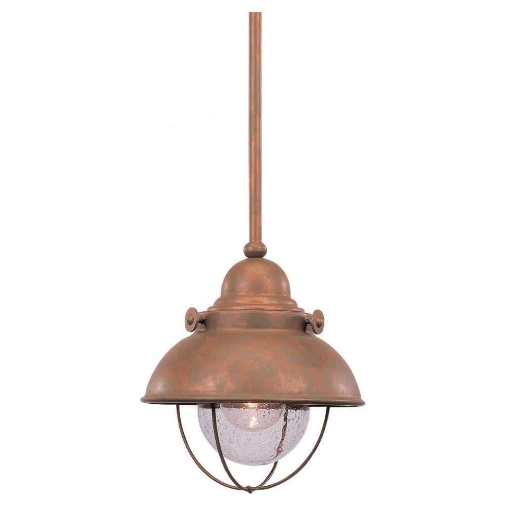 Sea Gull Lighting Sebring 1-Light Weathered Copper Outdoor Pendant