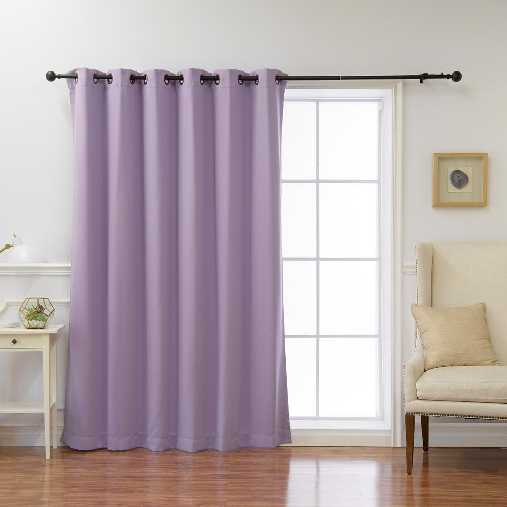 Best Home Fashion Wide Basic 80 in. W x 96 in. L Blackout Curtain in Lavender