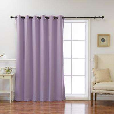 Wide Basic 80 in. W x 96 in. L Blackout Curtain in Lavender
