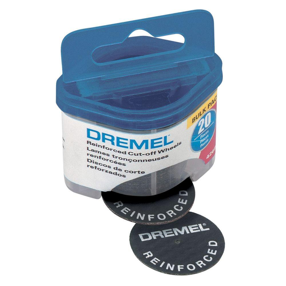 Dremel 1-1/4 in. Cut-Off Wheel Dispenser for Cutting Wood, Plastic, and Metal (20-Pack)