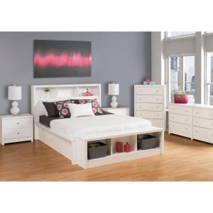 Calla 5-Drawer White Chest of Drawers